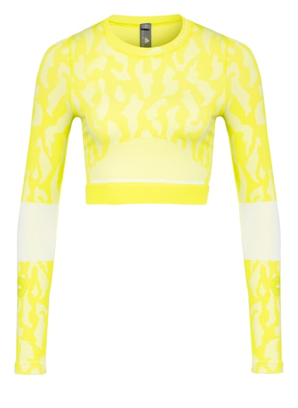 adidas by Stella McCartney Cropped-Longsleeve TRUEPURPOSE, Farbe: NEONGELB (Bild 1)