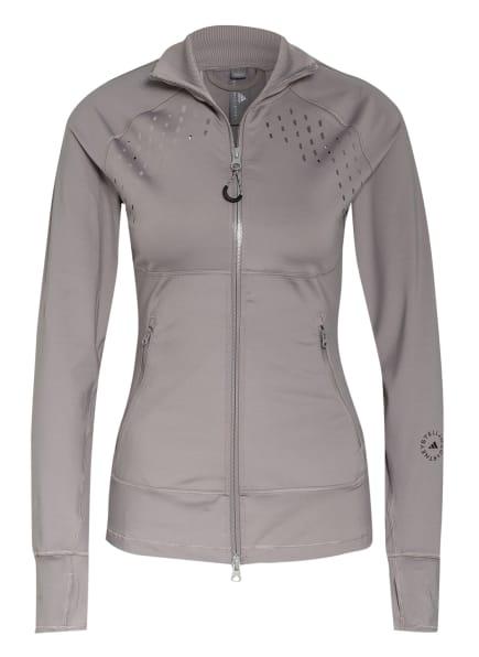 adidas by Stella McCartney Trainingsjacke TRUEPURPOSE mit Mesh-Einsätzen, Farbe: GRAU (Bild 1)