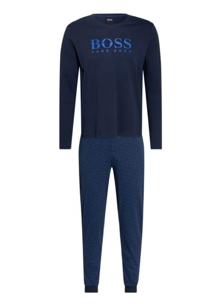 BOSS Schlafanzug RELAX LONG mit Geschenkbox, Farbe: DUNKELBLAU/ BLAU (Bild 1)