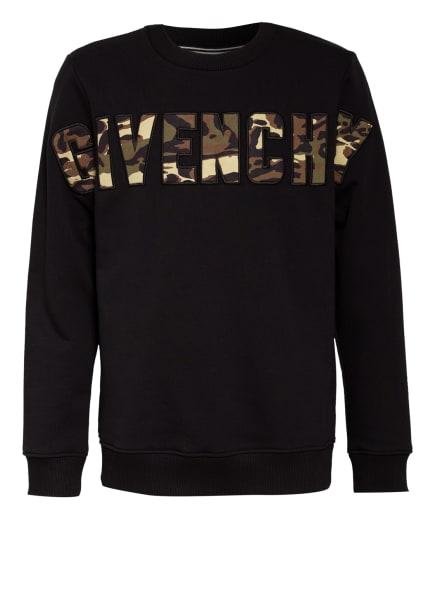 GIVENCHY Sweatshirt, Farbe: SCHWARZ/ KHAKI/ OLIV (Bild 1)