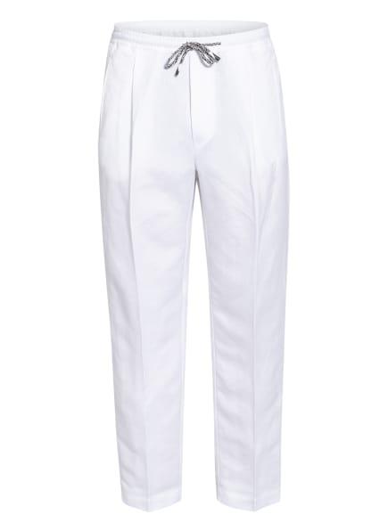 EMPORIO ARMANI Hose Regular Fit mit Leinen , Farbe: WEISS (Bild 1)