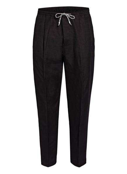 EMPORIO ARMANI Hose Regular Fit mit Leinen , Farbe: SCHWARZ (Bild 1)