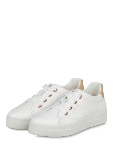 GANT Plateau-Sneaker AVONA, Farbe: WEISS/ ROSÉGOLD (Bild 1)