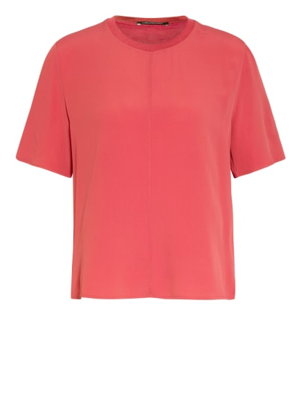 LUISA CERANO Blusenshirt im Materialmix, Farbe: HELLROT (Bild 1)
