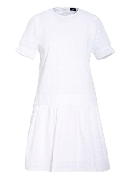 JOOP! Kleid DELTA mit Lochstickerei , Farbe: WEISS (Bild 1)