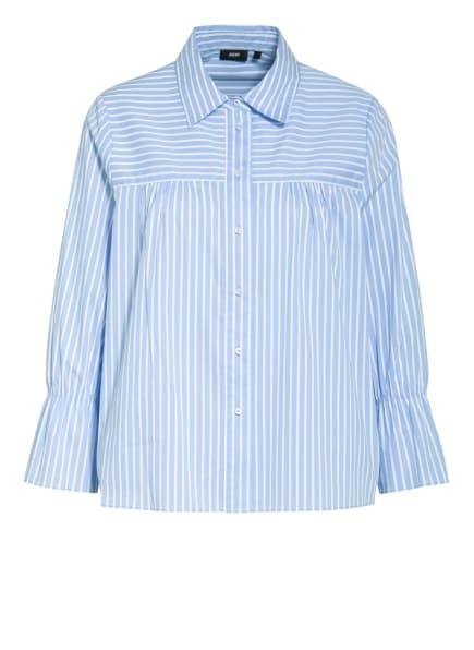 JOOP! Bluse BETHY mit 3/4-Arm , Farbe: WEISS/ HELLBLAU (Bild 1)
