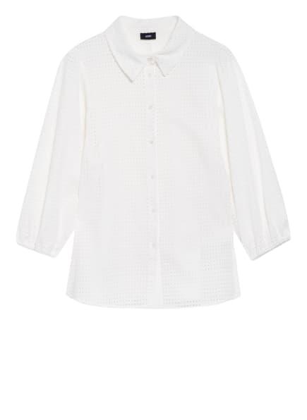 JOOP! Bluse mit Lochstickerei , Farbe: WEISS (Bild 1)