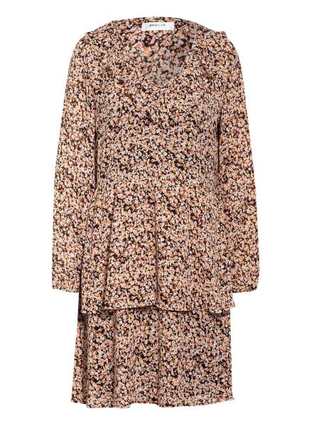 MOSS COPENHAGEN Kleid MERILIA RIKKELIE , Farbe: SCHWARZ/ GELB/ HELLROSA (Bild 1)