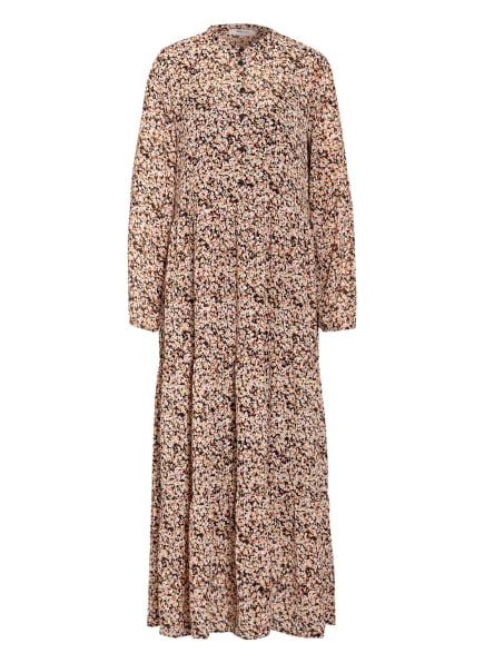 MOSS COPENHAGEN Kleid MERILA RIKKELIE , Farbe: SCHWARZ/ HELLGELB/ HELLROSA (Bild 1)
