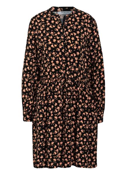 MOSS COPENHAGEN Kleid BENNA , Farbe: SCHWARZ/ ORANGE/ HELLORANGE (Bild 1)