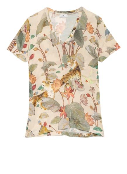 ETRO T-Shirt, Farbe: BEIGE/ GRÜN/ ROT (Bild 1)