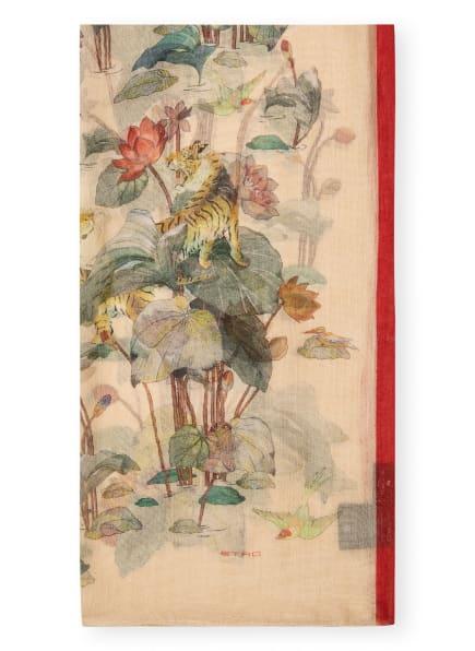 ETRO Seidenschal, Farbe: BEIGE/ ROT/ GRÜN (Bild 1)