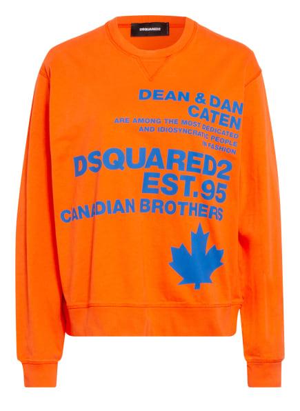DSQUARED2 Sweatshirt, Farbe: ORANGE/ BLAU (Bild 1)