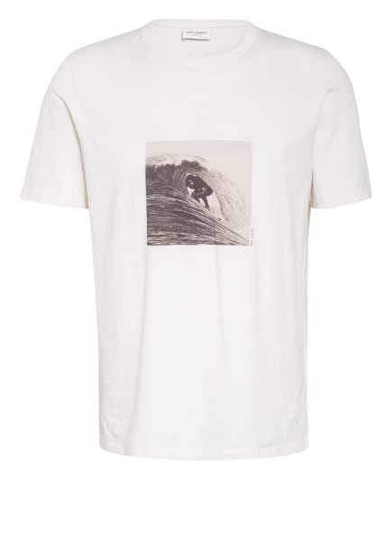 SAINT LAURENT T-Shirt, Farbe: ECRU/ GRAU (Bild 1)