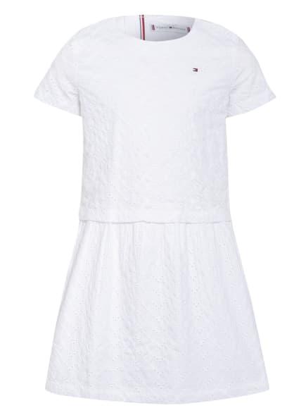 TOMMY HILFIGER Kleid mit Lochspitze, Farbe: WEISS (Bild 1)
