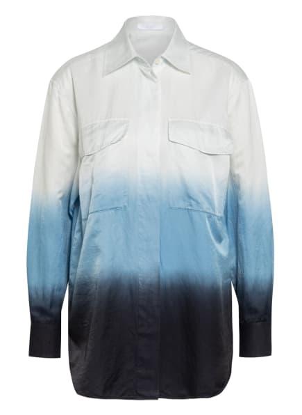 BOSS Hemdbluse BAWAKI mit Seide, Farbe: WEISS/ HELLBLAU/ DUNKELBLAU (Bild 1)