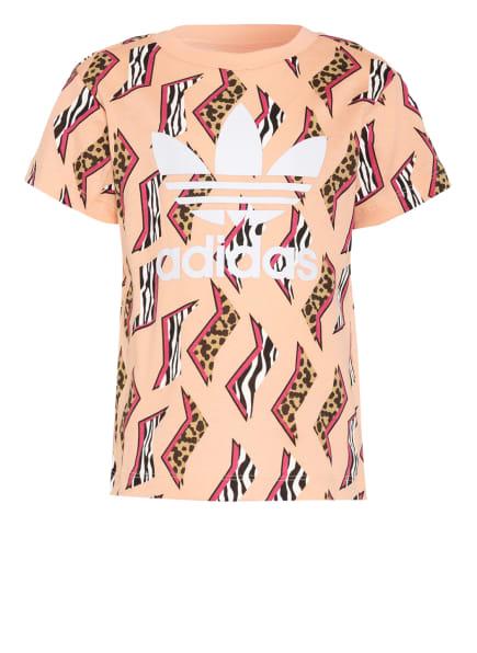 adidas Originals T-Shirt, Farbe: NUDE/ FUCHSIA/ SCHWARZ (Bild 1)