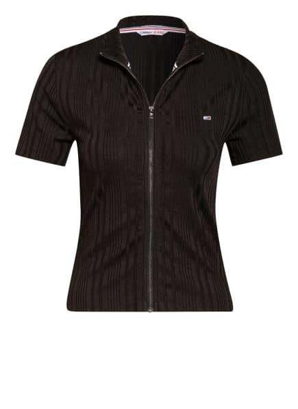 TOMMY JEANS Strickshirt mit Reißverschluss , Farbe: SCHWARZ (Bild 1)