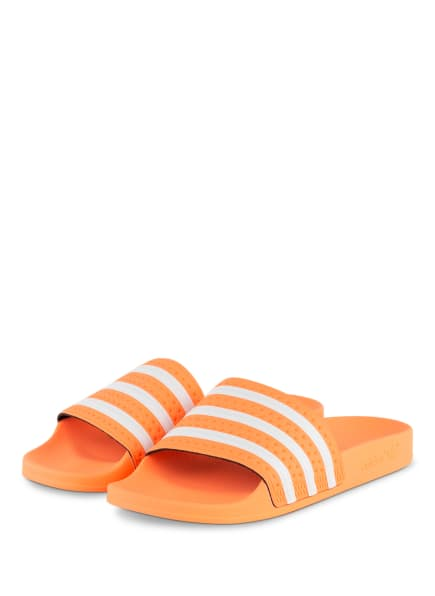 adidas Originals Pantoletten ADILETTE , Farbe: NEONORANGE/ WEISS (Bild 1)