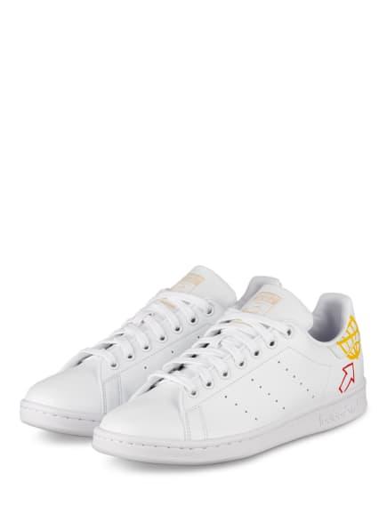 adidas Originals Sneaker STAN SMITH, Farbe: WEISS/ ROT/ ROSA (Bild 1)