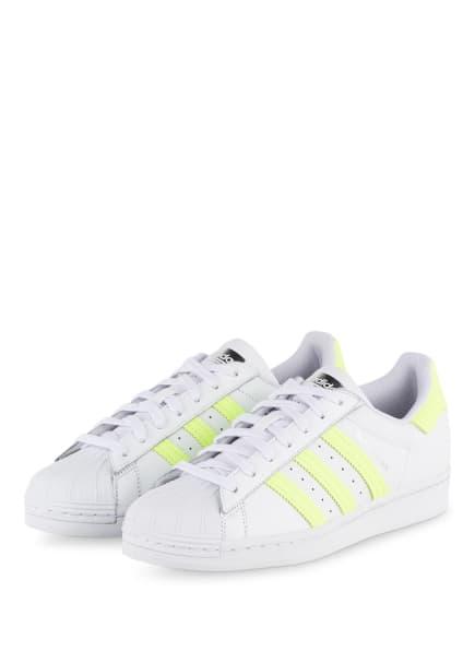 adidas Originals Sneaker SUPERSTAR, Farbe: WEISS/ NEONGELB (Bild 1)