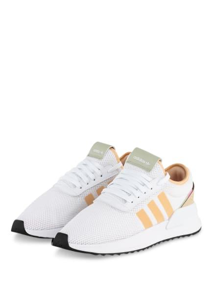 adidas Originals Plateau-Sneaker U_PATH X , Farbe: WEISS/ HELLORANGE (Bild 1)