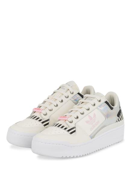 adidas Originals Plateau-Sneaker FORUM BOLD, Farbe: WEISS/ SCHWARZ/ HELLLILA (Bild 1)