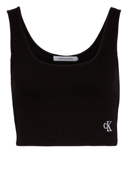 Calvin Klein Jeans Cropped-Top, Farbe: SCHWARZ (Bild 1)