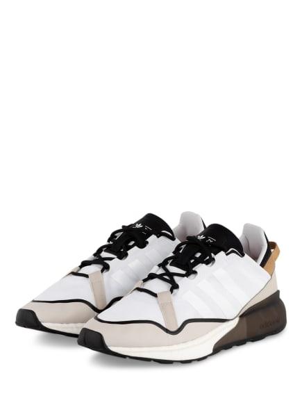 adidas Originals Sneaker ZX 2K BOOST PURE, Farbe: WEISS/ CREME/ SCHWARZ (Bild 1)