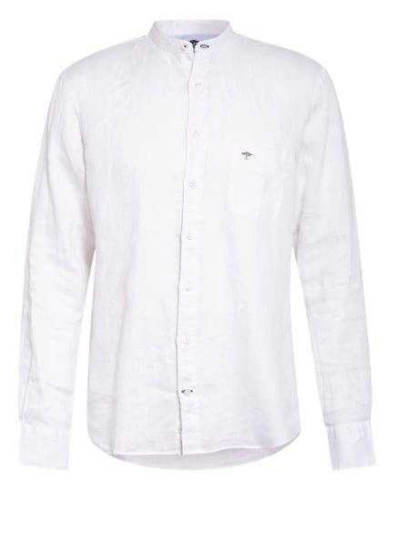 FYNCH-HATTON Leinenhemd mit Stehkragen Comfort Fit, Farbe: WEISS (Bild 1)