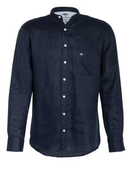 FYNCH-HATTON Leinenhemd mit Stehkragen Comfort Fit, Farbe: DUNKELBLAU (Bild 1)