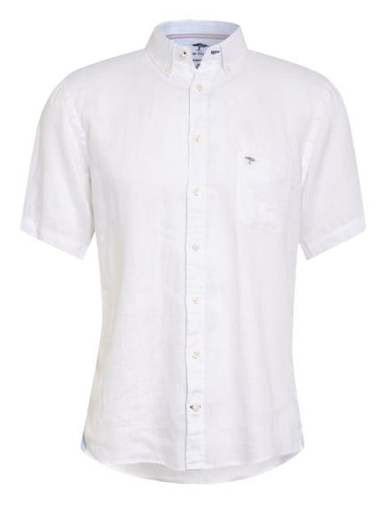 FYNCH-HATTON Kurzarm-Hemd Slim Fit aus Leinen , Farbe: WEISS (Bild 1)