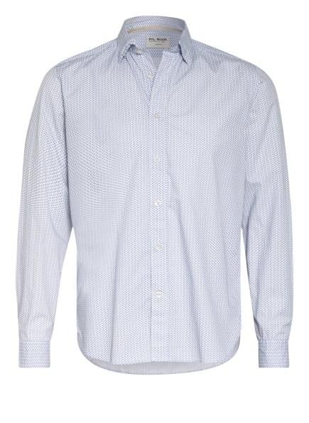FIL NOIR Hemd ROMA Shaped Fit, Farbe: WEISS/ BLAU (Bild 1)