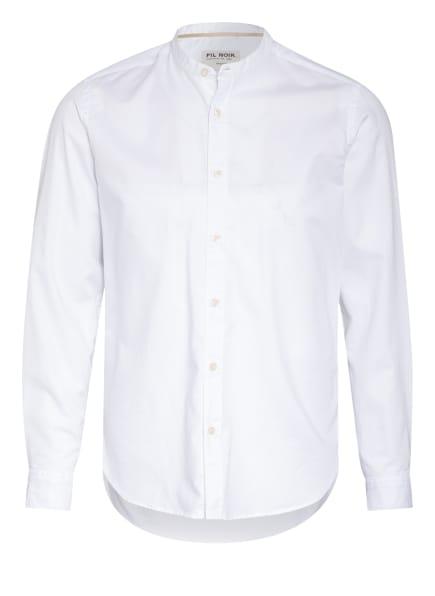 FIL NOIR Hemd ROYAL OXFORD Slim Fit mit Stehkragen, Farbe: WEISS (Bild 1)