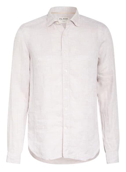 FIL NOIR Leinenhemd Shaped Fit, Farbe: BEIGE (Bild 1)