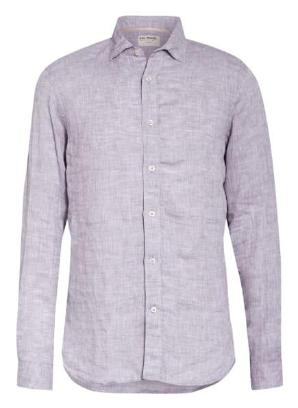 FIL NOIR Leinenhemd Shaped Fit, Farbe: HELLGRAU (Bild 1)