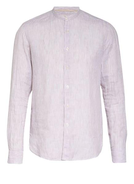 FIL NOIR Hemd Shaped Fit mit Stehkragen, Farbe: WEISS/ BEIGE (Bild 1)