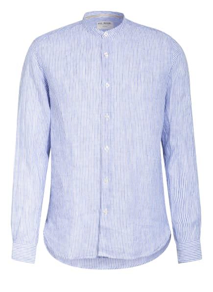 FIL NOIR Hemd Shaped Fit mit Stehkragen, Farbe: WEISS/ BLAU (Bild 1)