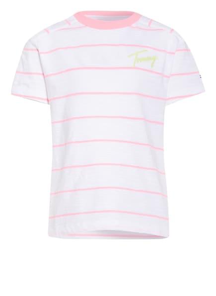 TOMMY HILFIGER T-Shirt , Farbe: WEISS/ ROSA (Bild 1)