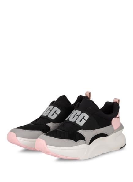 UGG Slip-on-Sneaker LA FLEX, Farbe: SCHWARZ/ HELLROSA/ GRAU (Bild 1)