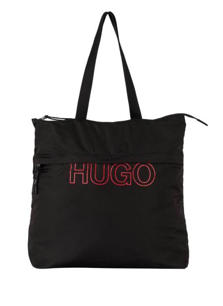 HUGO Shopper REBORN, Farbe: SCHWARZ/ ROT (Bild 1)