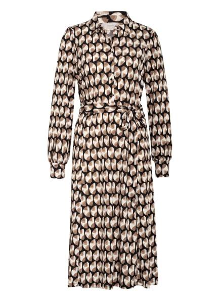 FREEQUENT Kleid, Farbe: SCHWARZ/ HELLBRAUN/ ECRU (Bild 1)