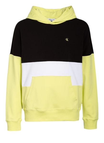 Calvin Klein Hoodie, Farbe: GELB/ WEISS/ SCHWARZ (Bild 1)