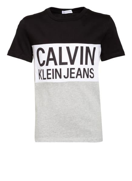 Calvin Klein T-Shirt, Farbe: SCHWARZ/ WEISS/ GRAU (Bild 1)