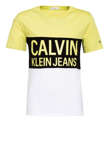 Calvin Klein T-Shirt, Farbe: DUNKELGELB/ SCHWARZ/ WEISS (Bild 1)
