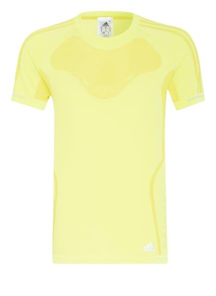 adidas Laufshirt PRIMEKNIT, Farbe: DUNKELGELB (Bild 1)