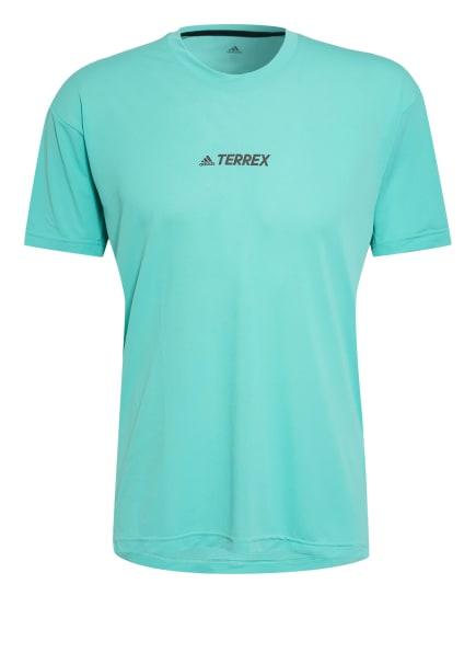 adidas Laufshirt TERREX PARLEY AGRAVIC TRAIL mit Mesh-Einsatz, Farbe: MINT (Bild 1)