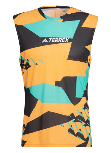 adidas Tanktop TERREX PARLEY AGRAVIC TRAIL, Farbe: ORANGE/ MINT/ SCHWARZ (Bild 1)