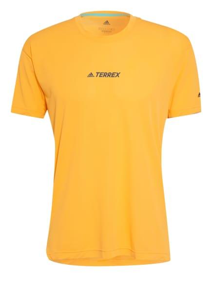 adidas Laufshirt TERREX PARLEY AGRAVIC TRAIL mit Mesh-Einsatz, Farbe: NEONORANGE/ MINT (Bild 1)