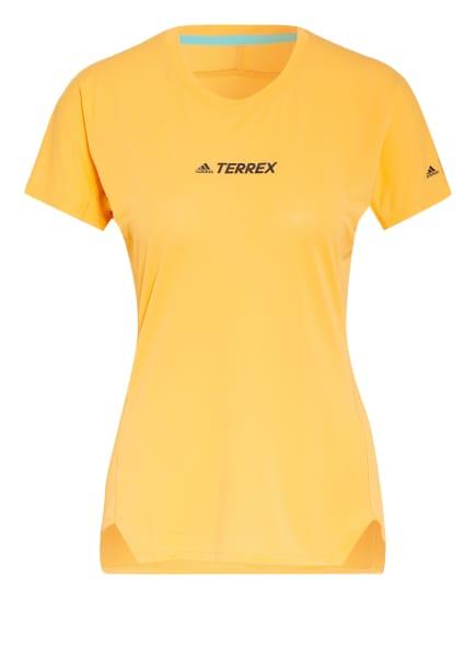 adidas Laufshirt TERREX PARLEY AGRAVIC mit Mesh-Einsätzen, Farbe: HELLORANGE (Bild 1)